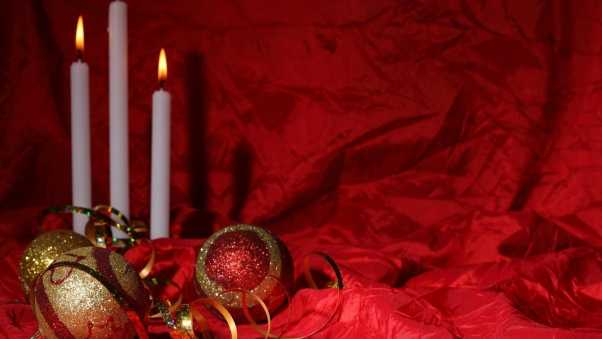 christmas decorations, candles, christmas