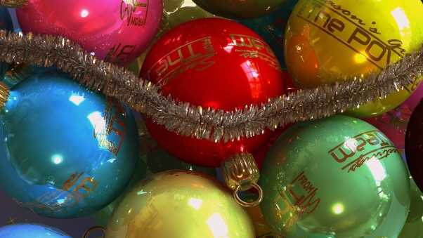 christmas decorations, tinsel, holiday