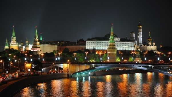 city, moscow, night