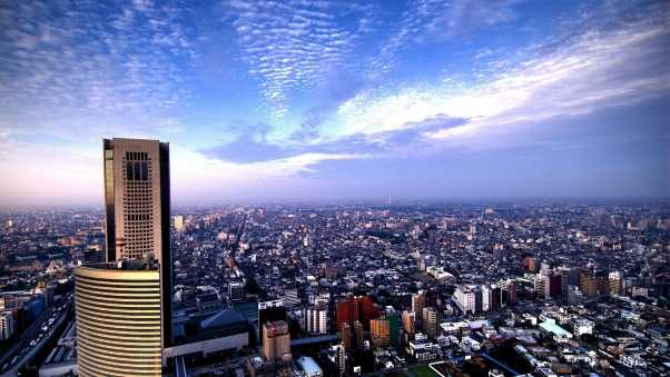 city, sky, view from above