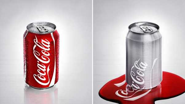 coca-cola, drink, can