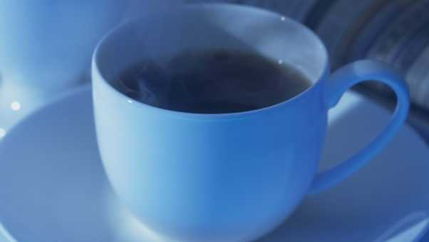 coffee, cup, blue
