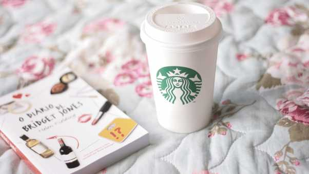 coffee, starbucks, book