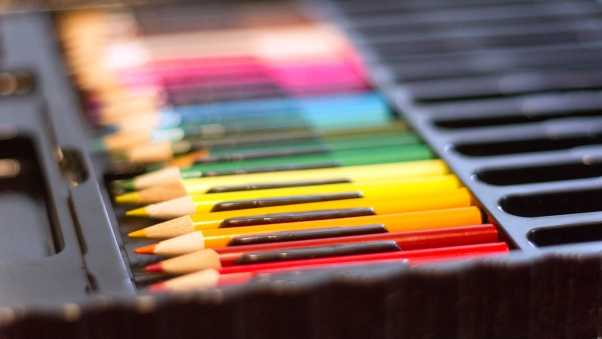 colored pencils, set, multicolored