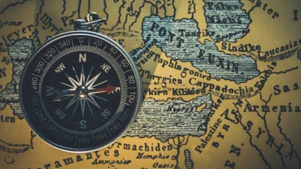 compass, map, travel