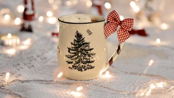 cup, garland, new year