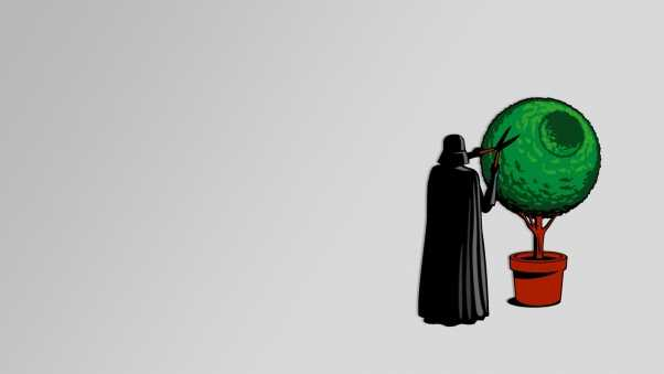 darth vader, bush, pruner