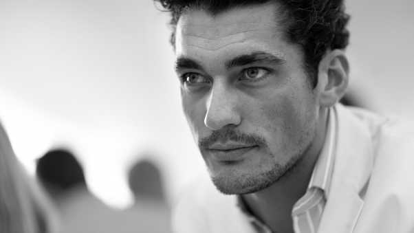david gandy, eyes, hair