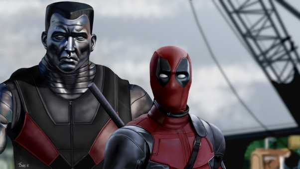 deadpool, colossus, art