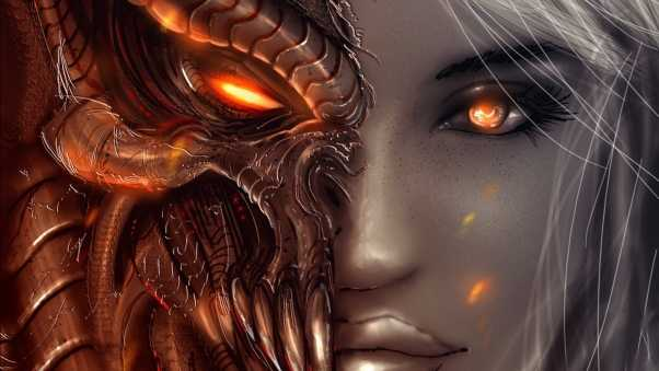 diablo 3, art, girl