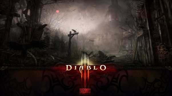 diablo 3, city, twilight