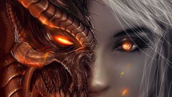 diablo 3, girl, art