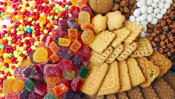 dragee, fruit candy, cookies
