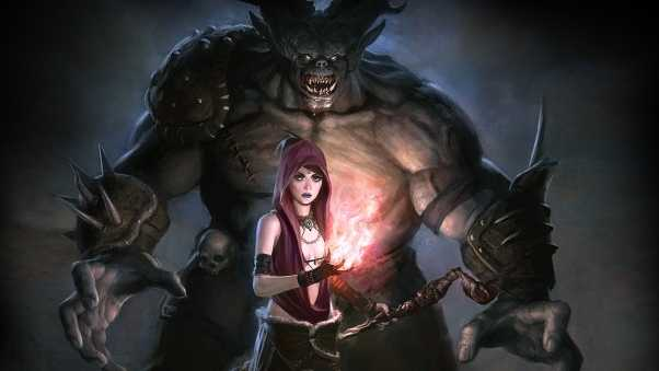dragon age, girl, monster