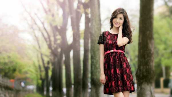 dress, asian, girl