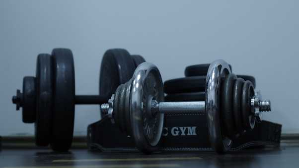 dumbbells, gym, weight