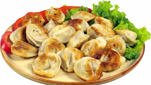 dumplings, fried, green