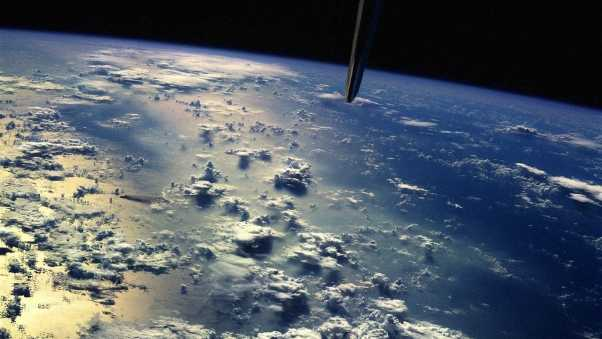 earth, from above, planet