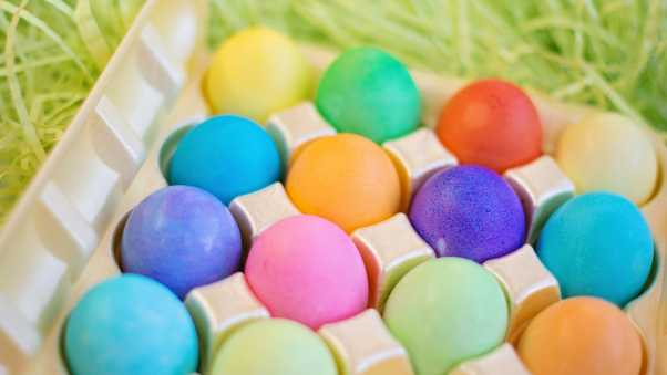 easter, eggs, colorful