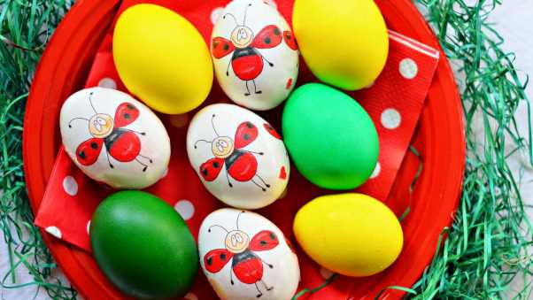 easter, eggs, painted