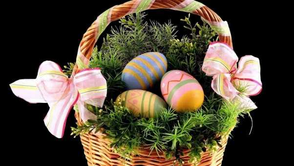 easter, holiday, basket