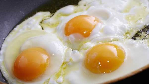 eggs, close-up, three