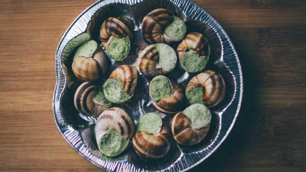 escargot, snail, stuffing