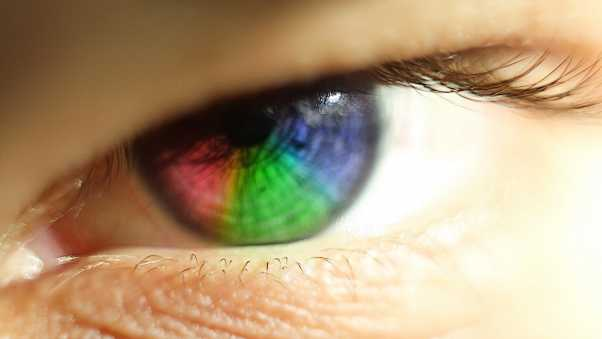 eye, rainbow, eyelashes