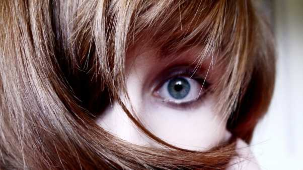 eyes, girl, hair