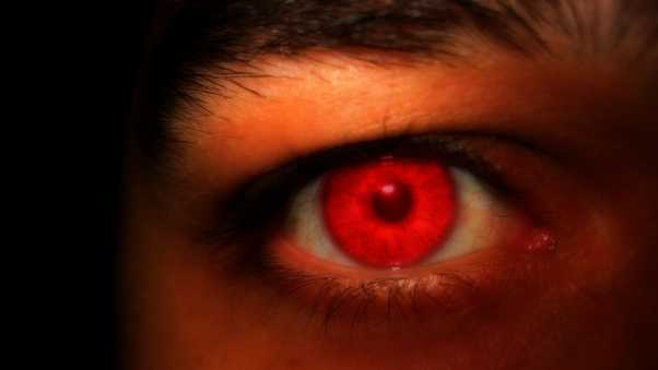 eyes, red, light