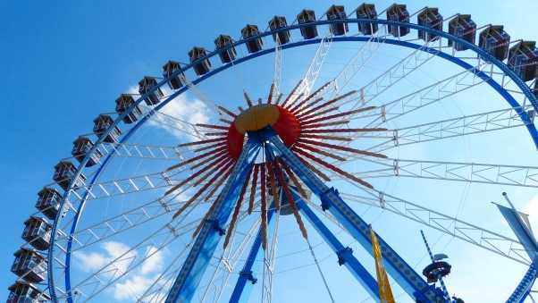 ferris wheel, oktoberfest, entertainment
