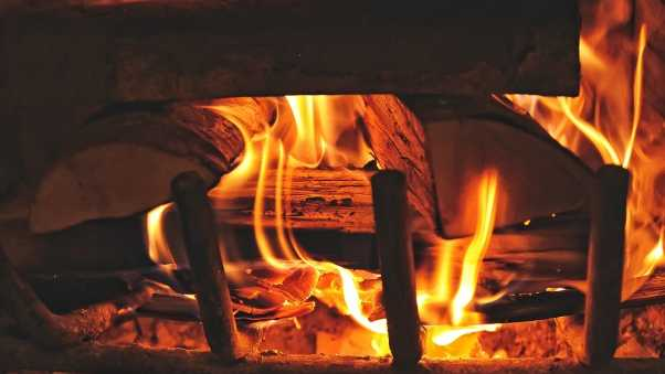 fireplace, fire, firewood