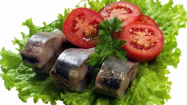 fish, meats, tomatoes