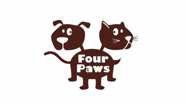 four paws, logo, pet products