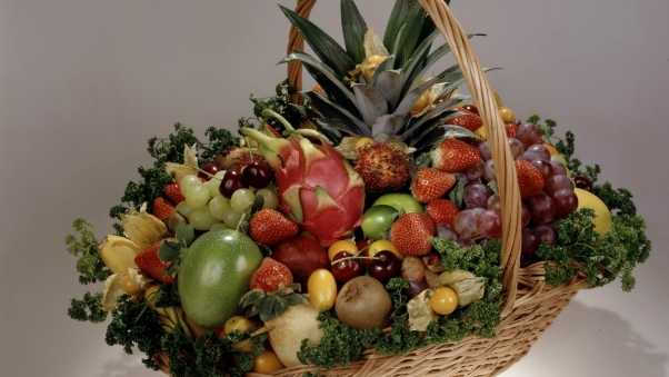 fruit, berry, basket