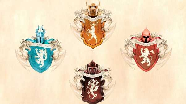 game of thrones, emblems, house stark