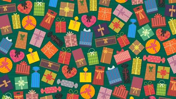 gifts, texture, colorful