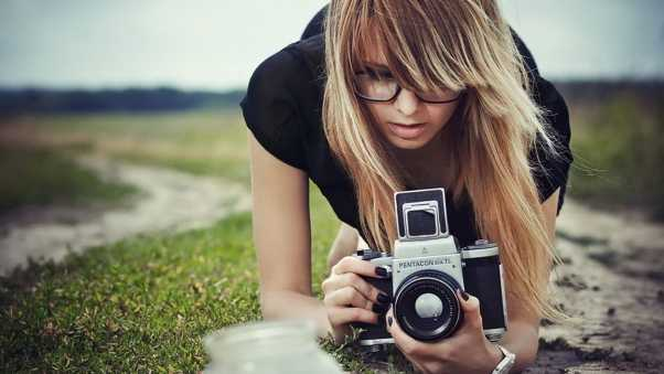 girl, camera, photography