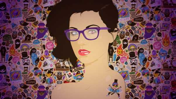 girl, glasses, face