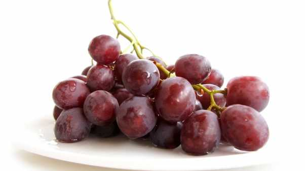 grapes, bunch, white