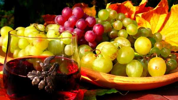 grapes, fruit, plate