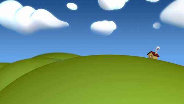 grass, clouds, sky