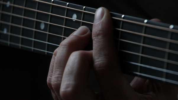 guitar, strings, fingers