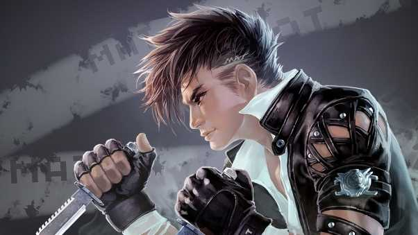 guy, hairstyle, knives