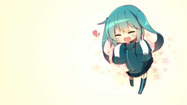 hatsune miku, girl, green hair
