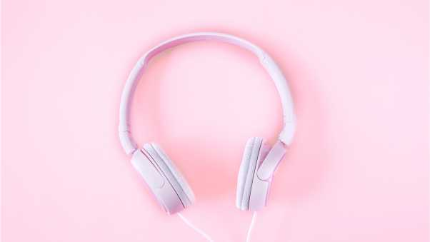 headphones, pink, tender