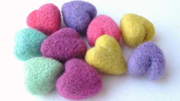 hearts, colorful, form
