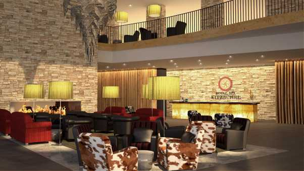 hotel, reception, design