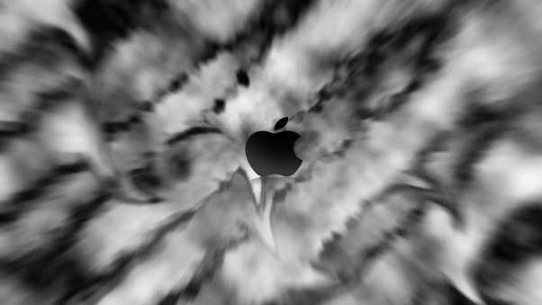 illusion, blurring, apple