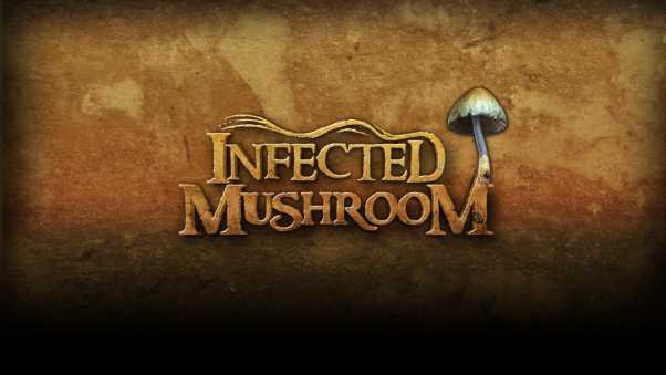 infected mushroom, letters, background